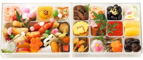 金茶寮のおせち料理『玉手箱』2段重